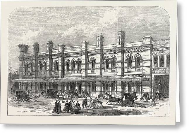 The Ludgate-hill Station Of The London, Chatham Greeting Card by English School