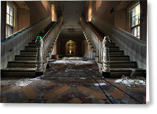 Weird New Jersey Greeting Cards - The Lunatic is in the Hall Greeting Card by Mihai Andritoiu