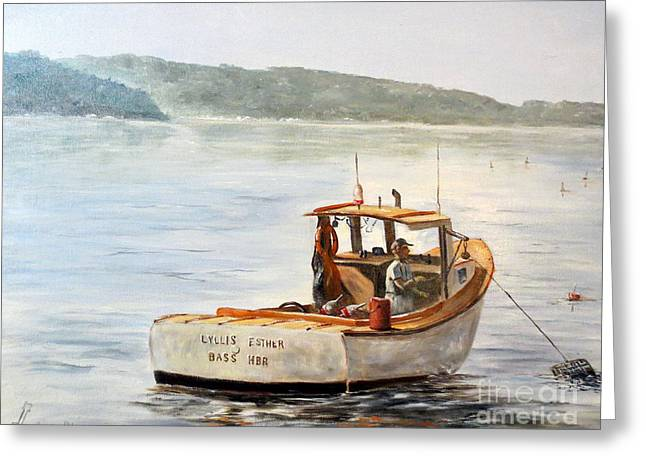 Recently Sold -  - Coastal Maine Greeting Cards - The Lyllis Esther Greeting Card by Lee Piper