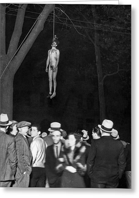 The Lynching Of A Murderer Greeting Card by Underwood Archives