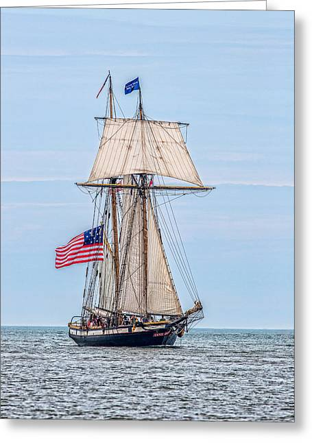 Wooden Ship Photographs Greeting Cards - The Lynx Greeting Card by Dale Kincaid