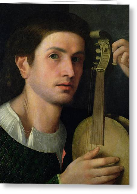 The Lyre Greeting Card by Italian School
