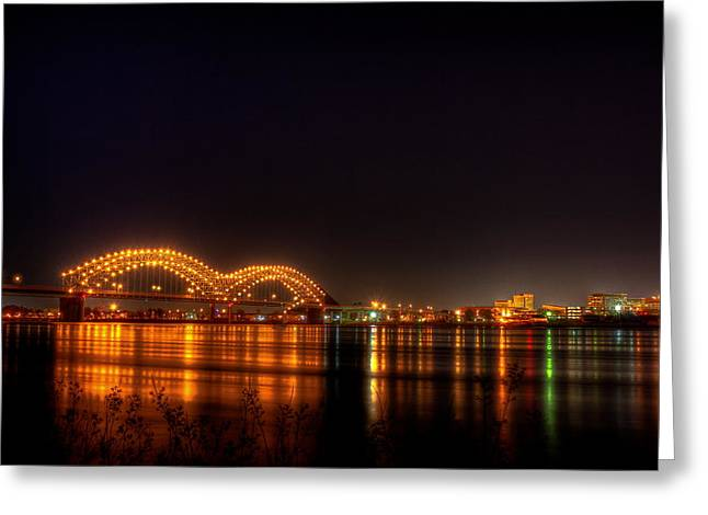 Arkansas Greeting Cards - The M Bridge over the Mississippi River at Memphis TN Greeting Card by Reid Callaway