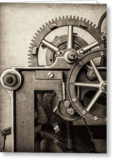 Mechanism Greeting Cards - The Machine Greeting Card by Martin Bergsma
