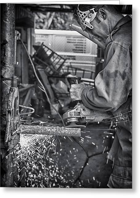 Mechanist Greeting Cards - The Machinist Greeting Card by Gigi Ebert