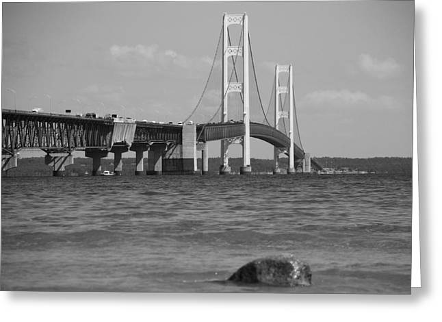 Great Architect Greeting Cards - The Mackinac Bridge Greeting Card by Dan Sproul