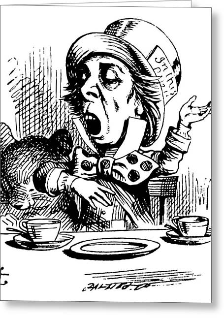 The Mad Hatter Greeting Card by John Tenniel