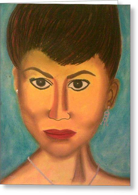 Jewelry Pastels Greeting Cards - The madam Greeting Card by Cynthia Walker-Wiggins