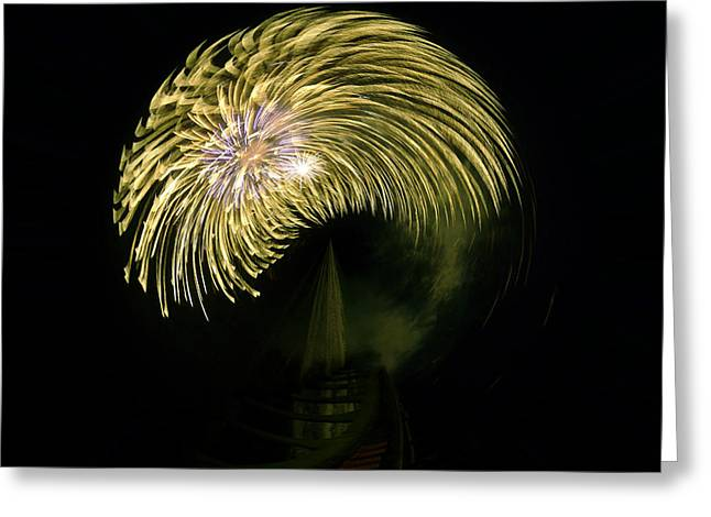 Pyrotechnics Greeting Cards - The Dumb Blonde Greeting Card by Steve Taylor