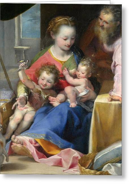 The Madonna Of The Cat Greeting Card by Federico Barocci