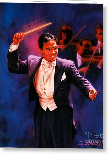 Conductor Greeting Cards - The Maestro Greeting Card by Dick Bobnick