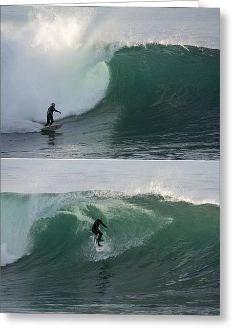 Steamer Lane Greeting Cards - The Maestro of Middle Peak Greeting Card by Bruce Frye