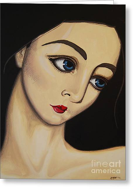 Mott Greeting Cards - The Magdalene Greeting Card by Rebecca Mott