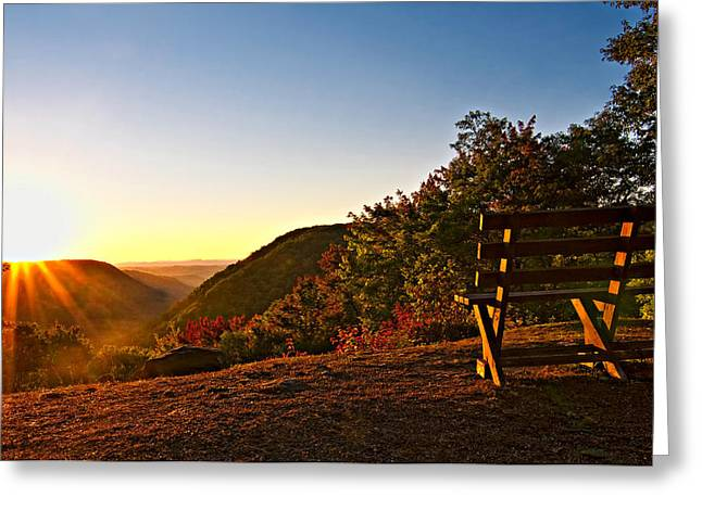 Wv Greeting Cards - The Magic Bench Greeting Card by Steve Harrington