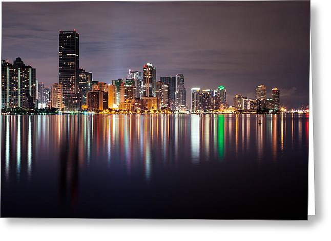 Brickell Greeting Cards - The Magic City Greeting Card by Brian McDougall