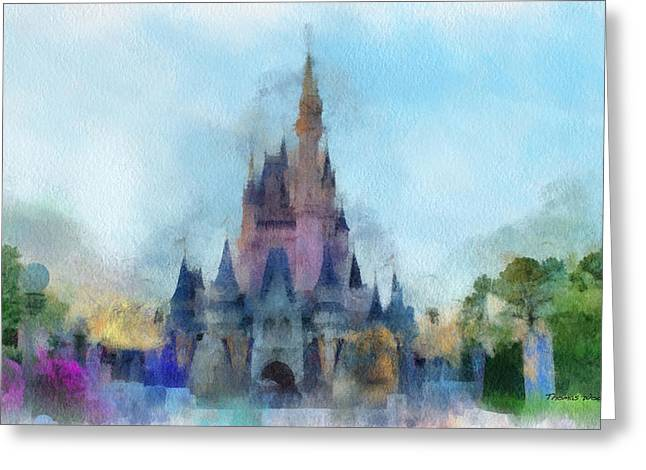 Hospital Theme Greeting Cards - The Magic Kingdom Castle WDW 05 Photo Art Greeting Card by Thomas Woolworth