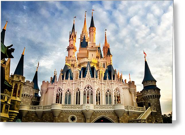 Cinderella Photographs Greeting Cards - The Magic Kingdom Greeting Card by Greg Fortier