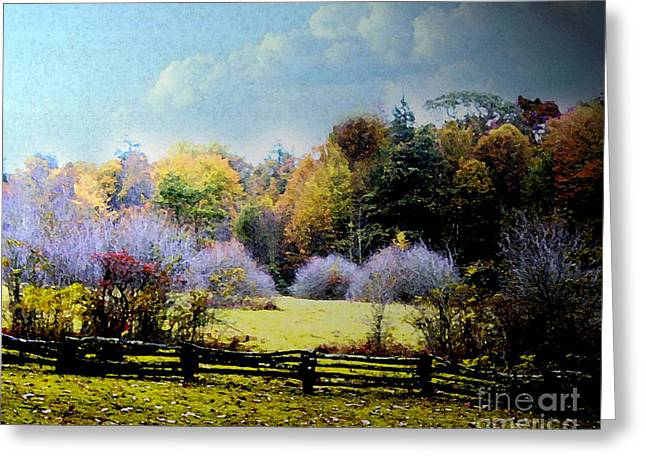 Garden Scene Digital Greeting Cards - THe Magic Land off the Porch Greeting Card by Sandra Clark
