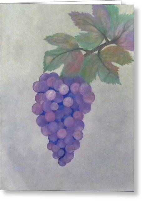 Grape Pastels Greeting Cards - The Magic of Grapes Greeting Card by MJ Strickland