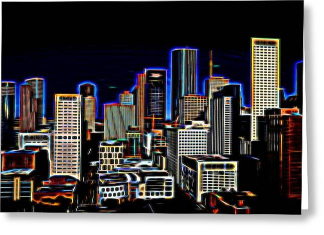 Usa Digital Greeting Cards - The Magic of Houston Greeting Card by Judy Vincent