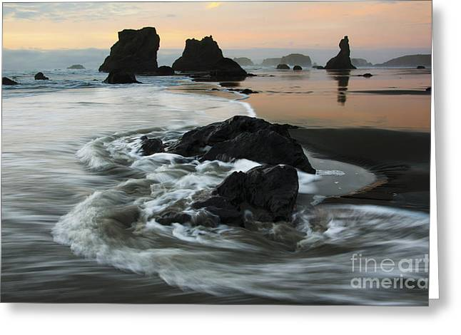 Canadian Photographer Greeting Cards - The Magic Of Light Bandon Oregon 1 Greeting Card by Bob Christopher