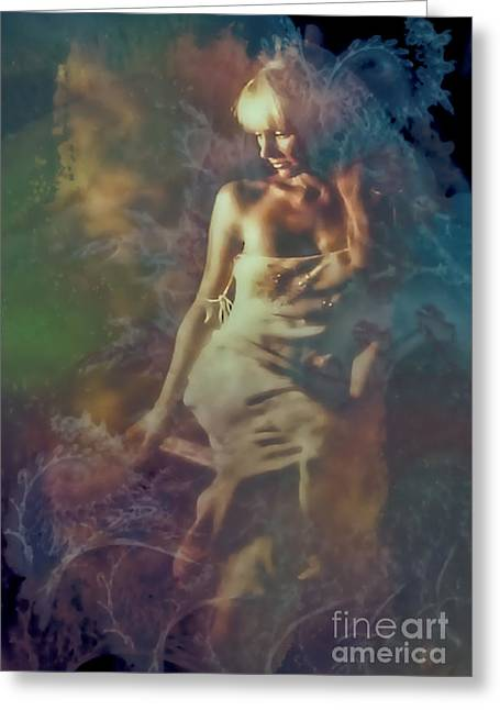 Seated Woman Greeting Card Greeting Cards - The Magic The Mystery Greeting Card by Barbara D Richards