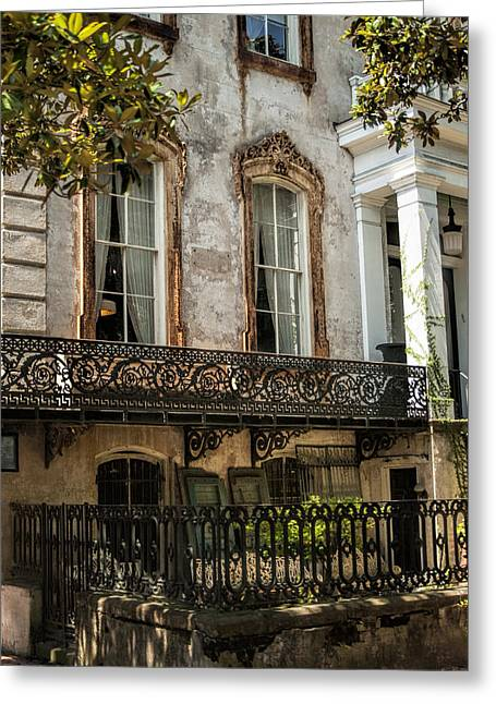 Masterful Greeting Cards - The Magical Wrought Iron of Savannah Greeting Card by Kathy Clark