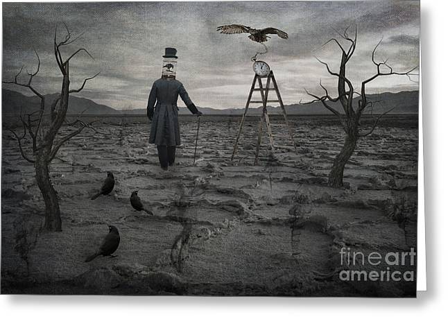 Salt Flat Images Greeting Cards - The Magician Greeting Card by Juli Scalzi