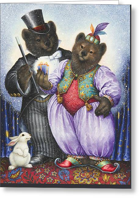 Wand Greeting Cards - The Magician Greeting Card by Lynn Bywaters