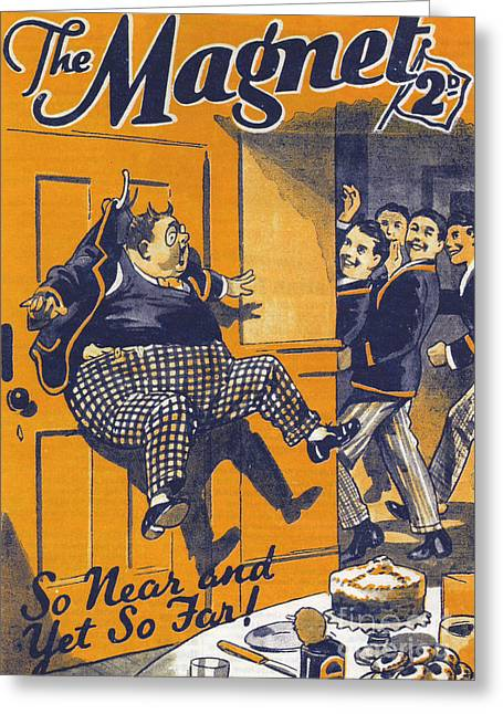 The Magnet 1930s Uk Billy Bunter Greeting Card by The Advertising Archives