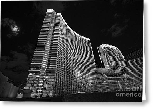 Front Entrance Greeting Cards - The magnificent Aria Resort and Casino at CityCenter in Las Vegas Greeting Card by Jamie Pham