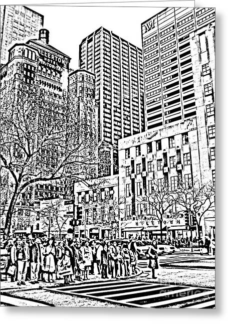 Magnificent Mile Digital Art Greeting Cards - The Magnificent Mile Greeting Card by Neil Zimmerman
