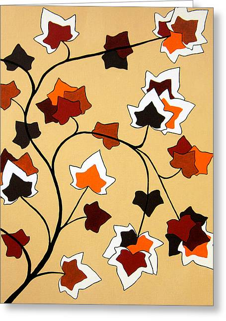 Colors Of Autumn Greeting Cards - The Magnolia House Rules Greeting Card by Oliver Johnston