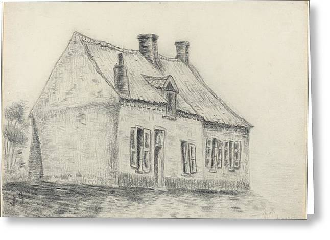Shading Drawings Greeting Cards - The Magrot House Cuesmes Greeting Card by Vincent vang Gogh