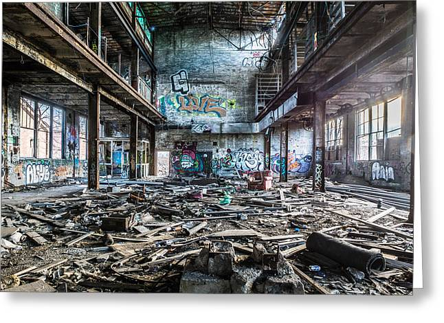 Abandonded Greeting Cards - The Maid is On Holiday Greeting Card by Randy Scherkenbach