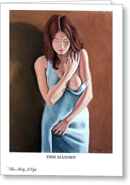 Clothed Figure Pastels Greeting Cards - The Maiden prints only Greeting Card by Joseph Ogle
