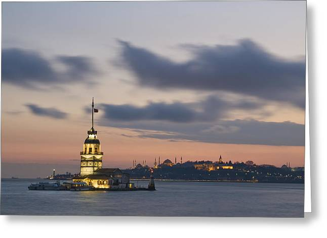 Kule Greeting Cards - The Maidens Tower  Greeting Card by Ayhan Altun