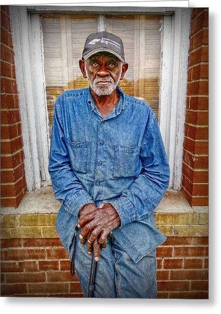 Black Man Greeting Cards - The Mailman Greeting Card by Linda Unger