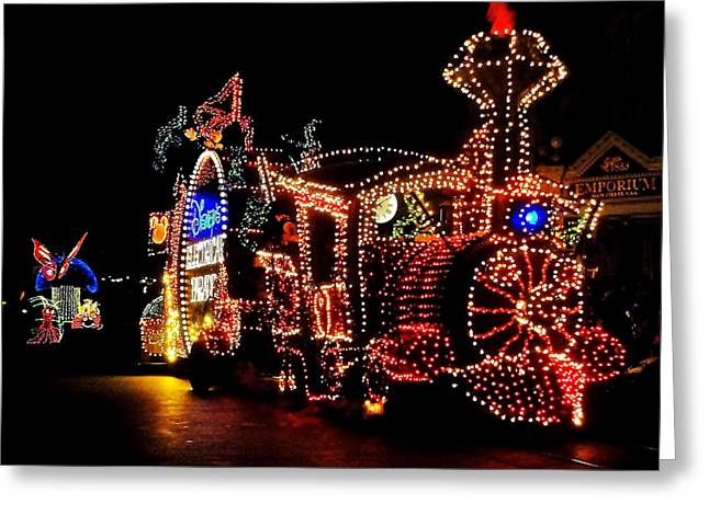 Best Sellers -  - Main Street Greeting Cards - The Main Street Electrical Parade Greeting Card by Benjamin Yeager