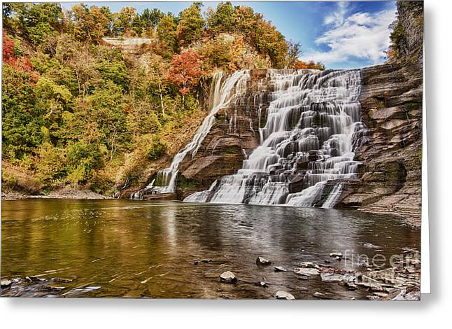 Ithaca Greeting Cards - The Majestic Ithaca Falls Greeting Card by Brad Marzolf Photography