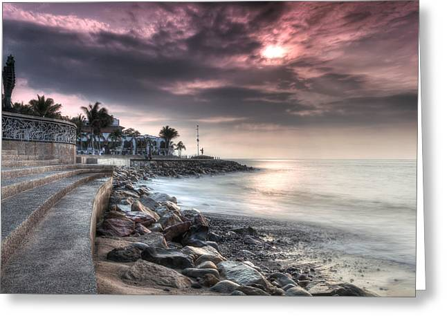 Dk Greeting Cards - The Malecon Greeting Card by Edward Kreis
