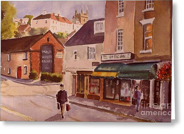 Malt Paintings Greeting Cards - The Malt house Hythe Greeting Card by Beatrice Cloake