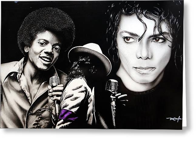Mj Paintings Greeting Cards - The Man in the Mirror Greeting Card by Dan Menta