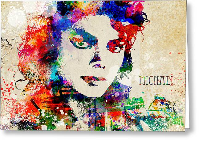 The King Of Pop Digital Art Greeting Cards - The Man in the Mirror Greeting Card by Patricia Lintner