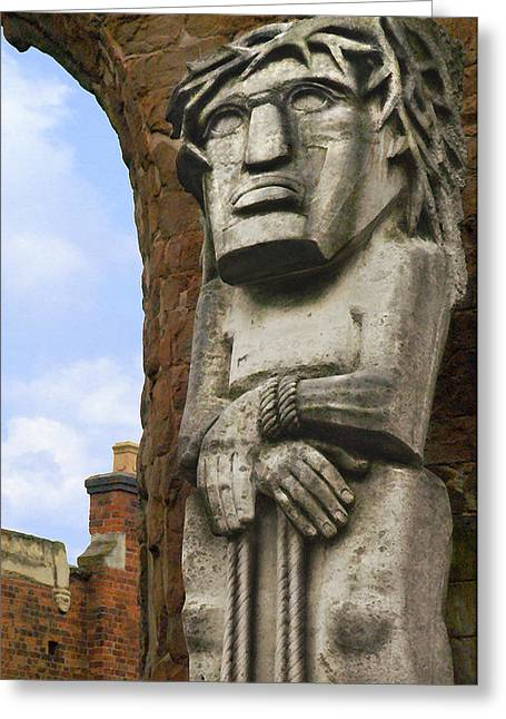Historic Statue Digital Art Greeting Cards - The Man Greeting Card by Mike McGlothlen
