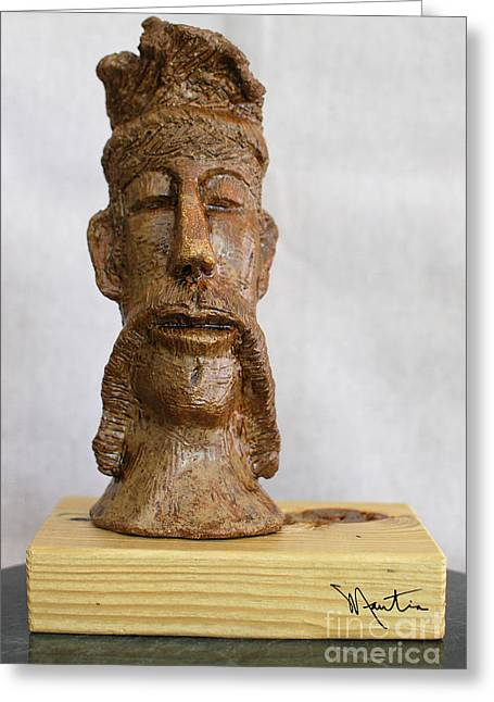 Portraits Ceramics Greeting Cards - The Man Of Peace  Greeting Card by Art Mantia