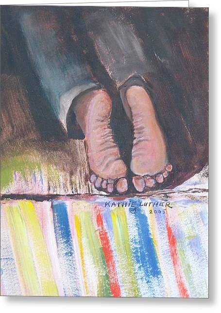 Prayer Warrior Greeting Cards - The Man on His Knees Before God Greeting Card by Kathleen Luther