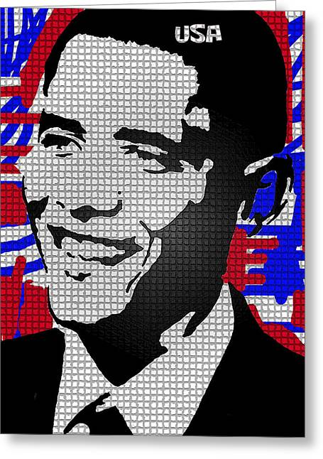 Obama Poster Digital Art Greeting Cards - The Man Who Killed Osama  Greeting Card by Robert Margetts