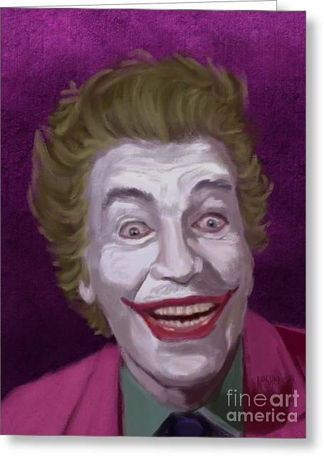 The Riddler Greeting Cards - The Man Who Laughs Greeting Card by Jeremy Nash