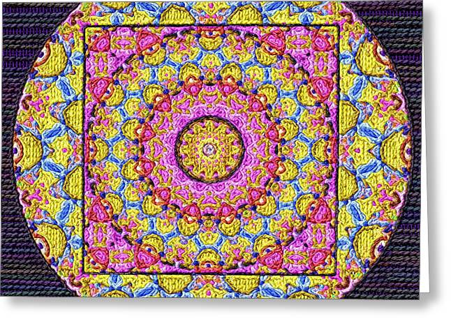Tapestry Wool Greeting Cards - The Mandala Arras Greeting Card by Victor Gladkiy